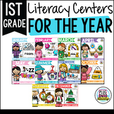 First Grade Literacy Centers for the Year Bundle