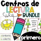 First Grade Literacy Centers in Spanish BUNDLE Centros de