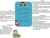 First Grade Literacy Common Core Standards Checklist