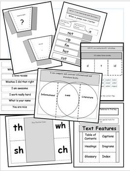 First Grade Literacy Interactive Notebook