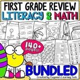 First Grade Literacy & Math Review - BUNDLED