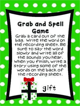 First Grade Literacy Stations for December with BONUS Calendar Pieces Set