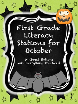 First Grade Literacy Stations for October with BONUS Calen