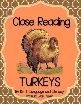 First Grade Literacy: TURKEYS