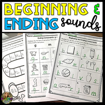 Distance Learning First Grade Literacy Centers and Worksheets Bundle