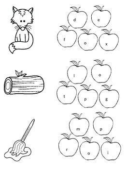 First Grade Literacy and Math Apple Theme