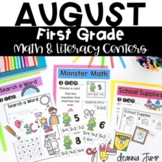 First Grade Literacy and Math Centers AUGUST
