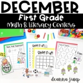 First Grade Literacy and Math Centers December