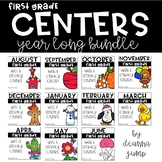 First Grade Literacy and Math Centers YEAR LONG BUNDLE