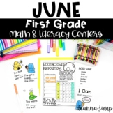 First Grade Literacy and Math Centers JUNE