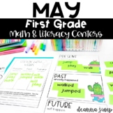 First Grade Literacy and Math Centers MAY
