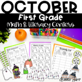 First Grade Literacy and Math Centers OCTOBER