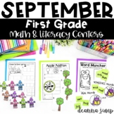 First Grade Literacy and Math Centers SEPTEMBER