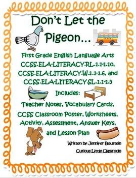 First Grade Common Core English Language Arts -The Pigeon