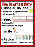 "First Grade Lucy Calkins ""How to Write a Story"" Anchor Chart"