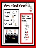 "First Grade Lucy Calkins ""Ways to Spell Words"" Anchor Chart"