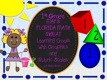 First Grade MAFS Learning Goals in SWBAT (Student will be able to..) Format