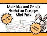 First Grade Main Idea and Details Nonfiction Comprehension - Desert Animals
