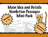 First Grade Main Idea and Details Practice Passages - Moun