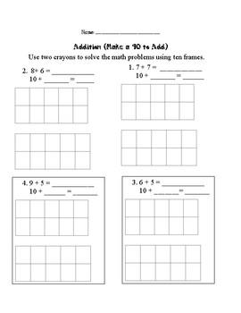 First Grade: Make a 10 to Add Assessment
