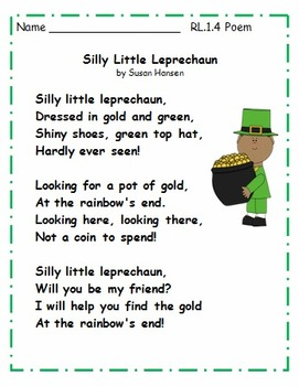 First Grade March and St.Patrick's Day Activities