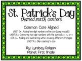 First Grade March Math Centers