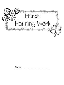 First Grade March Morning Work