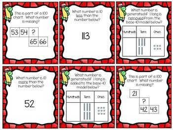 First Grade Math: 10 More 10 Less: TEKS 1.5C; CCSS 1.NBT.C.5
