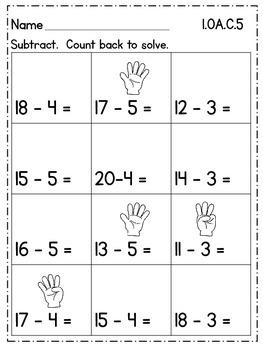 First Grade Math {1.OA.C.5} Freebie