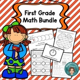 First Grade Math Bundle - Addition, Time, and 100s club