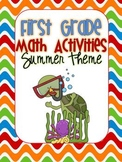 First Grade Math Activities {summer/beach theme}