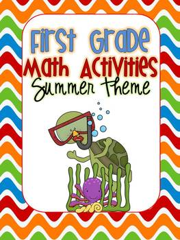 First Grade Math Activities {summer/beach theme}