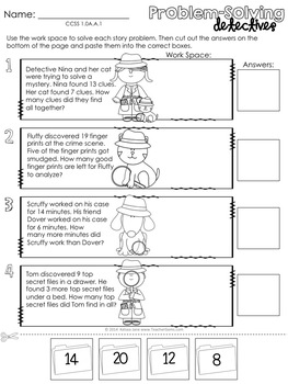 First Grade Math Agents: FREE Sample Activities Pack