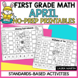 April Math Worksheets - First Grade
