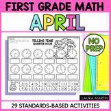 April Math Worksheets | First Grade