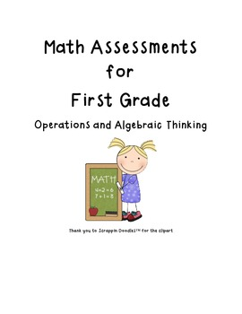 First Grade Common Core Math Assessments - Operations and Algebraic Thinking