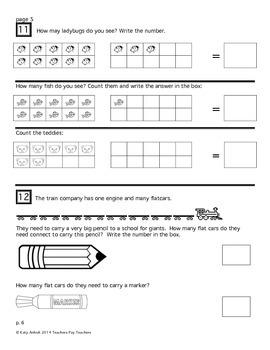 First Grade Math Assessment #1 (week 1)