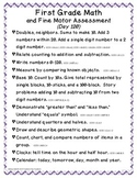 First Grade Math Assessment #3, day 120 (end of 2nd trimester)