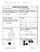 First Grade Math Assessment: 4th Quarter