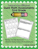 First Grade Math Common Core Aligned Assessment Pack
