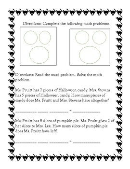 First Grade Math Assessment Mixed Addition and Subtraction Facts