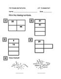 First Grade Math Assessment Number Sense Greater than 20