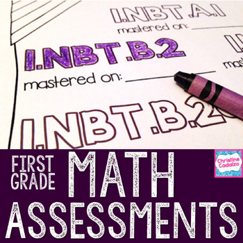 First Grade Math Assessments - Common Core Math Assessments