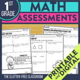 First Grade Math Assessments | Progress Monitoring for the