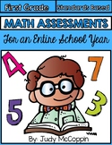 First Grade Math Assessments for an Entire Year