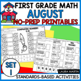 Back to School Math Worksheets - First Grade