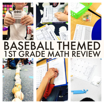 First Grade Math Baseball Review