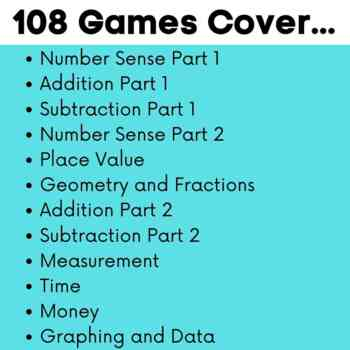 First Grade Math Boom Cards Growing Bundle