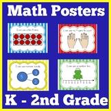 Math Strategies Posters  | Kindergarten 1st 2nd Grade | Ma