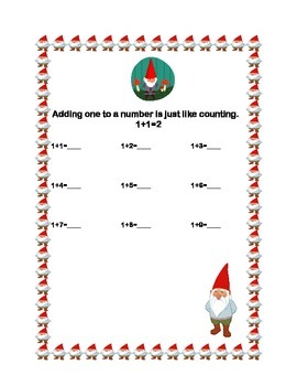 First Grade Math Bundle-Christmas Theme-3 CCSS